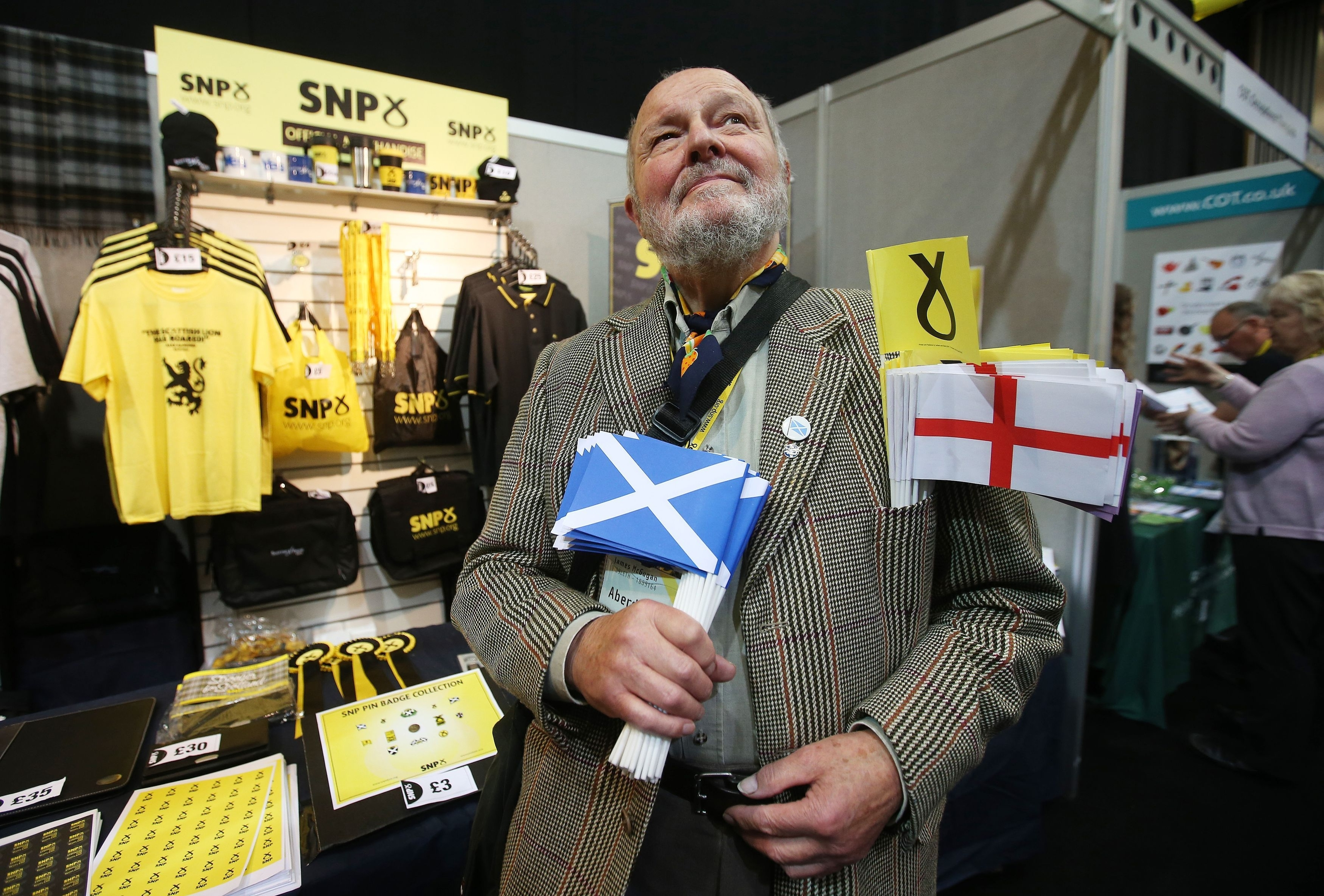 SNP supporter James McGugan at the SNP conference