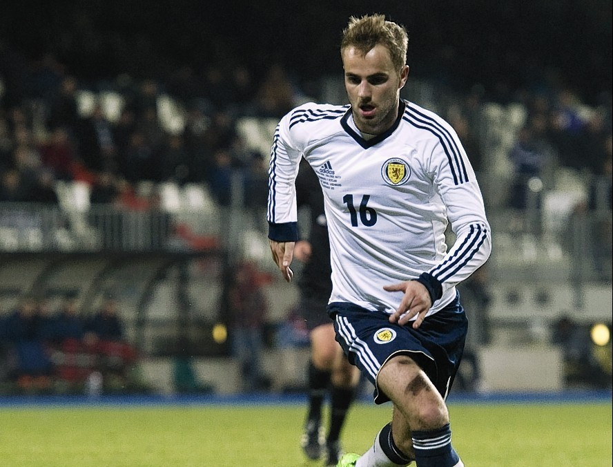 Andrew Shinnie earned his only Scotland cap in 2012, during his impressive spell with Caley Thistle