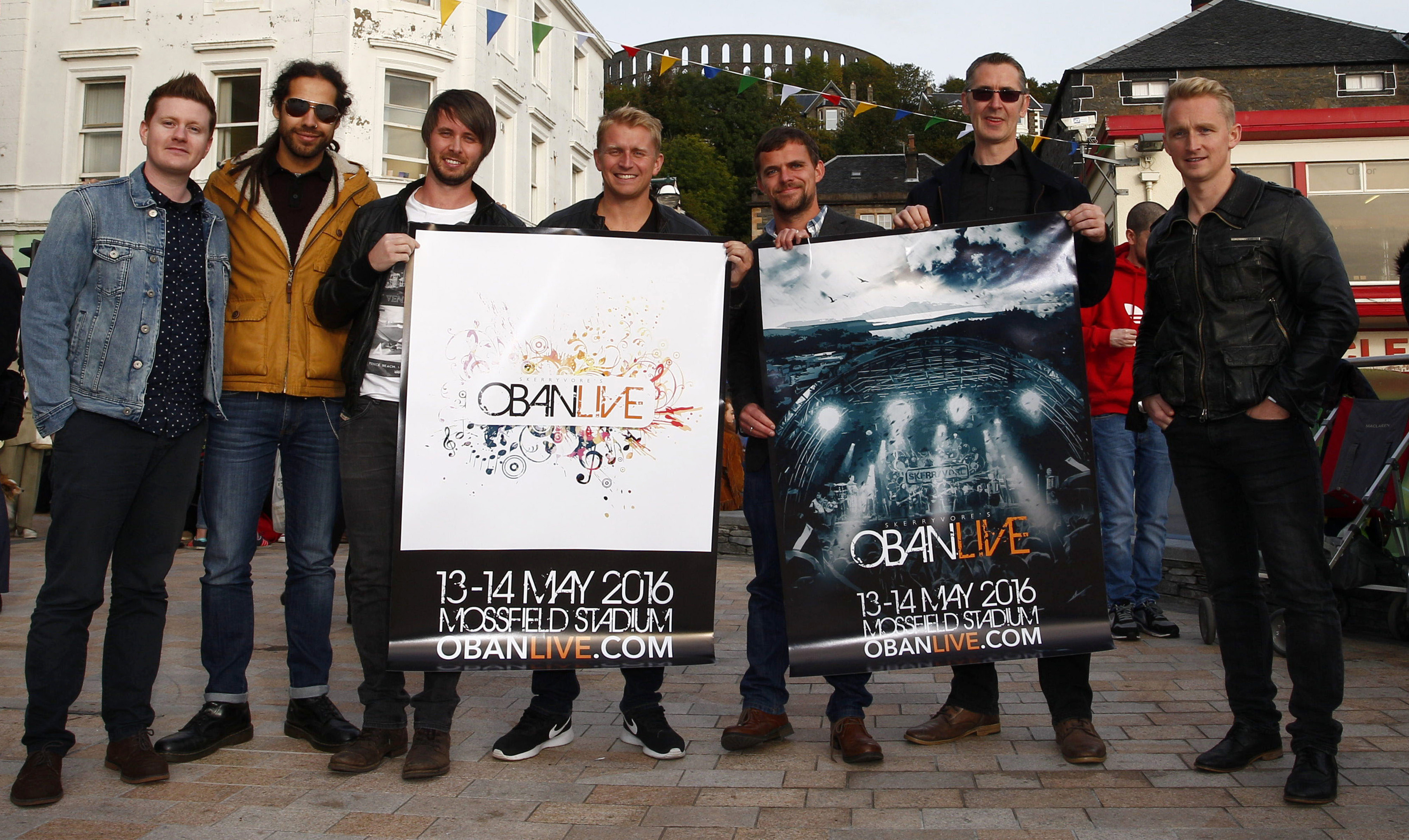 """Skerryvore launch """"Oban Live"""" a two day open air concert in Oban on 13thth & 14th May 2016......(c) STEPHEN LAWSON"""