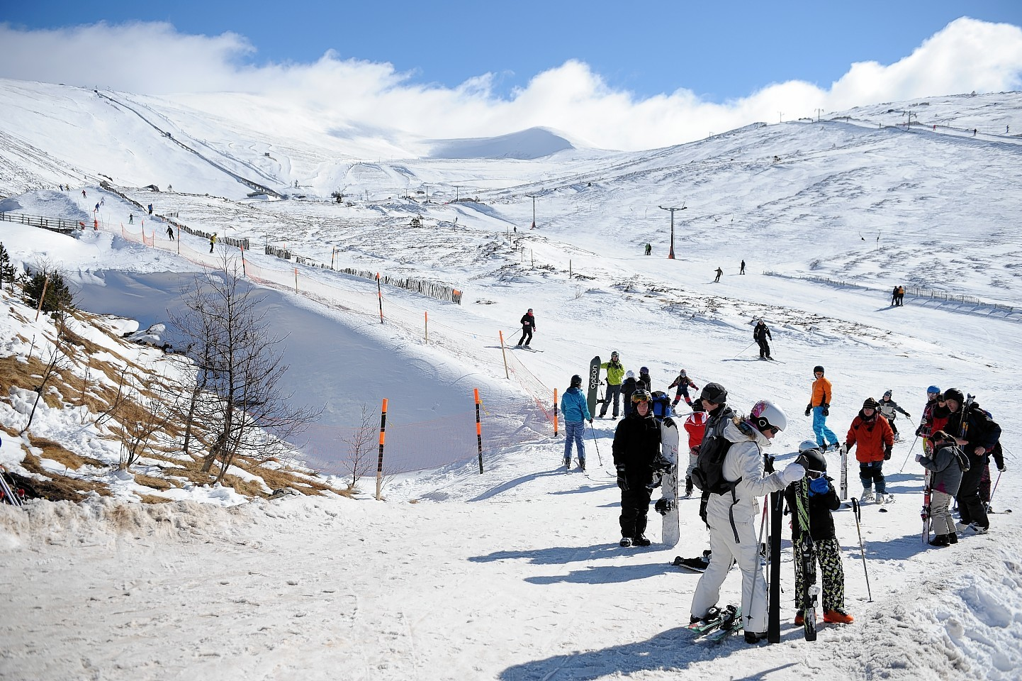Skiers on the Cairngorms