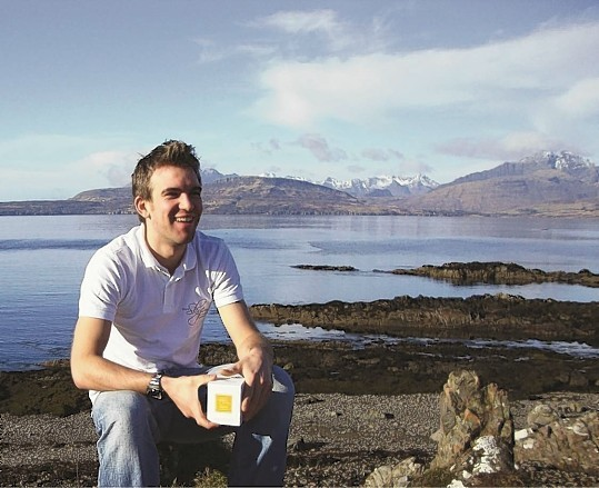 James Robertson, owner of the Isle of Skye Candle Company