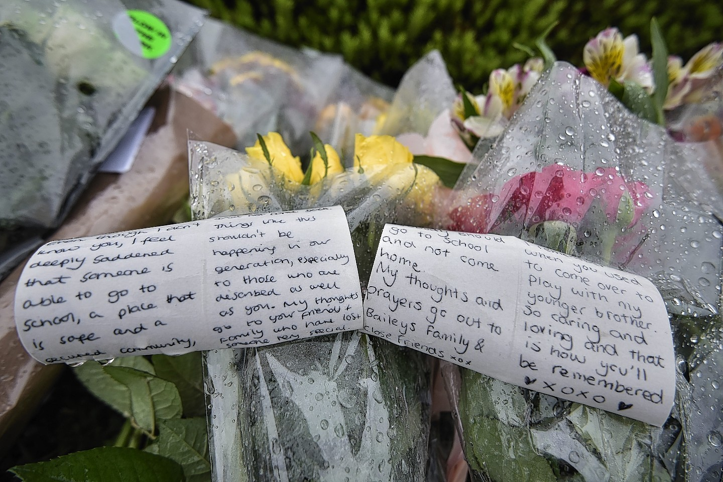 Emotional messages have been left in tribute to Bailey