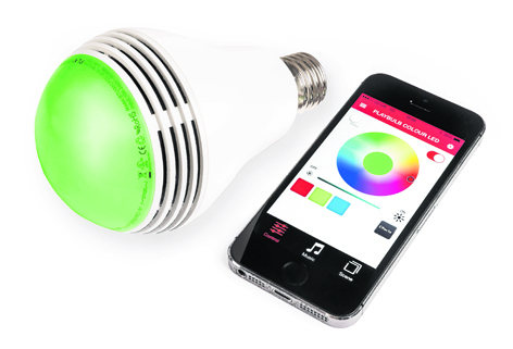 The PLAYBULB Colour comes with an app which allows you to switch through a range of colours