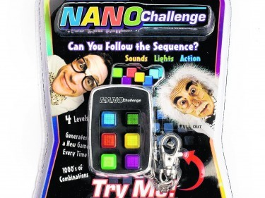 Undated Handout Photo of the Nano Challenge Brain Training Sequence Game, available from thegiftandgadgetstore.com. See PA Feature GADGETS Memory. Picture credit should read: PA Photo/Handout. WARNING: This picture must only be used to accompany PA Feature GADGETS Memory. WARNING: This picture must only be used with the full product information as stated above.