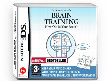 Undated Handout Photo of the Dr Kawashima's Brain Training How Old Is Your Brain (Nintendo DS), available from amazon.co.uk. See PA Feature GADGETS Memory. Picture credit should read: PA Photo/Handout. WARNING: This picture must only be used to accompany PA Feature GADGETS Memory. WARNING: This picture must only be used with the full product information as stated above.