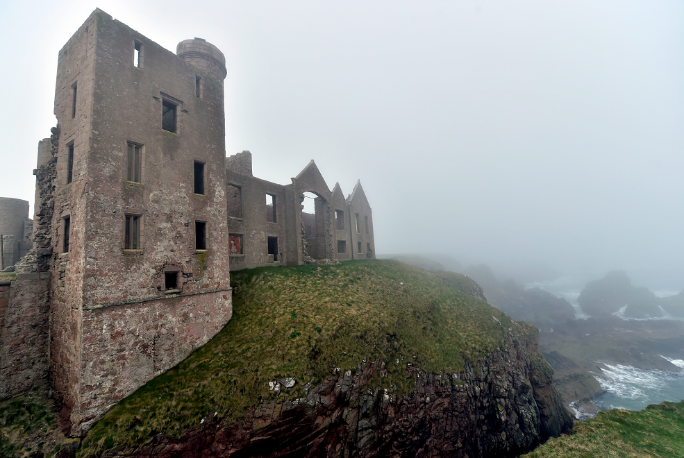 The incident took place at Slains Castle