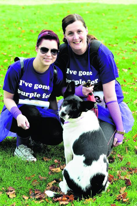 Al Gall and Lisa Doig with dog Joey