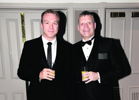 Sir Chris Hoy and Mike Naysmith
