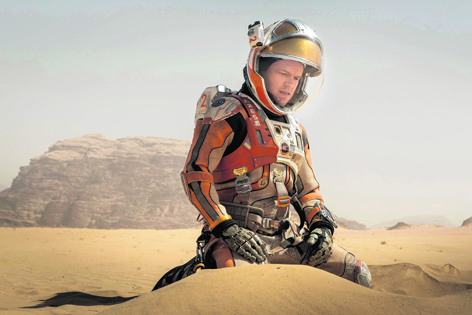 Matt Damon fights for survival as he is left for dead on the red planet