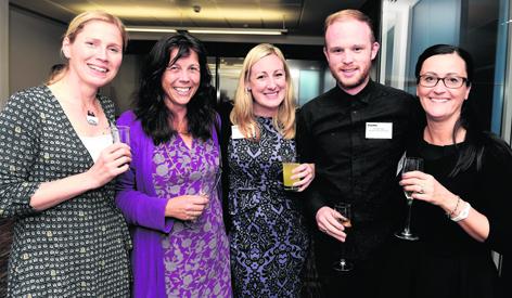 Gillian Gourlay, Karin Hayhow, Mahri Reilly, Phil McCormack and Karen Allan