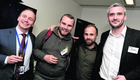 Graham Hollis, Ian Abbott, Laurie Sansom and Adam McDougall