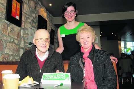 Aileen Stewart, centre, with Frank and Georgina Still