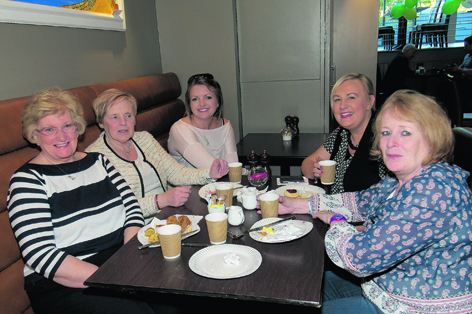 Mary Sinclair, Isabelle Collie, Katie Moult, Claire Middleton and Margaret Watt