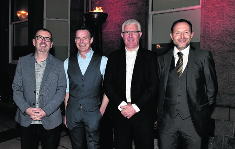 Neil Patience, Paul Paxton, Mal Boyes and Darren Thow