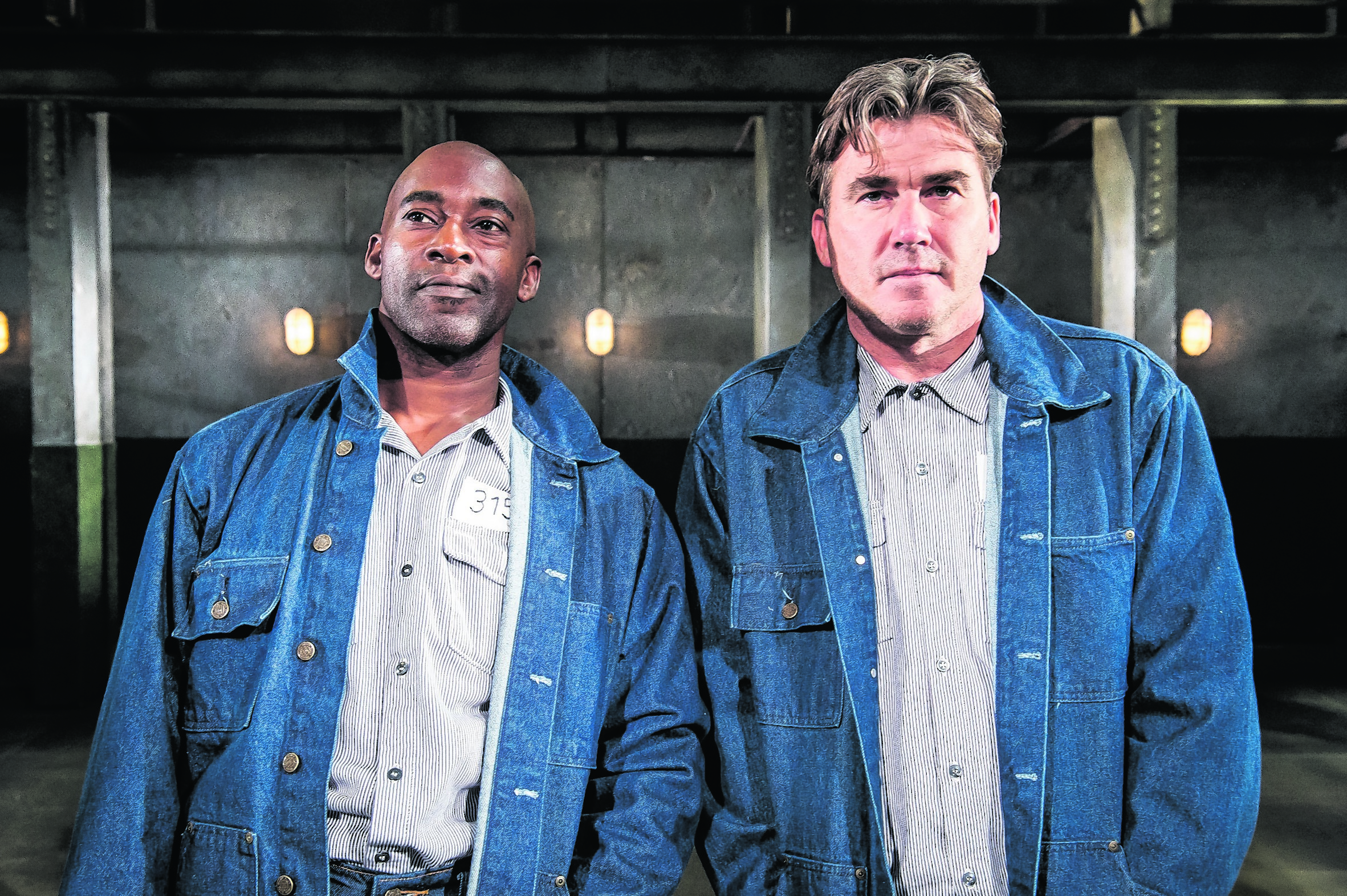 Patrick Robinson, left, and Ian Kelsey take on the iconic roles played by Morgan Freeman and Tim Robbins in the stage adaptation of The Shawhsank Redemption. Photo: Mark Yeoman