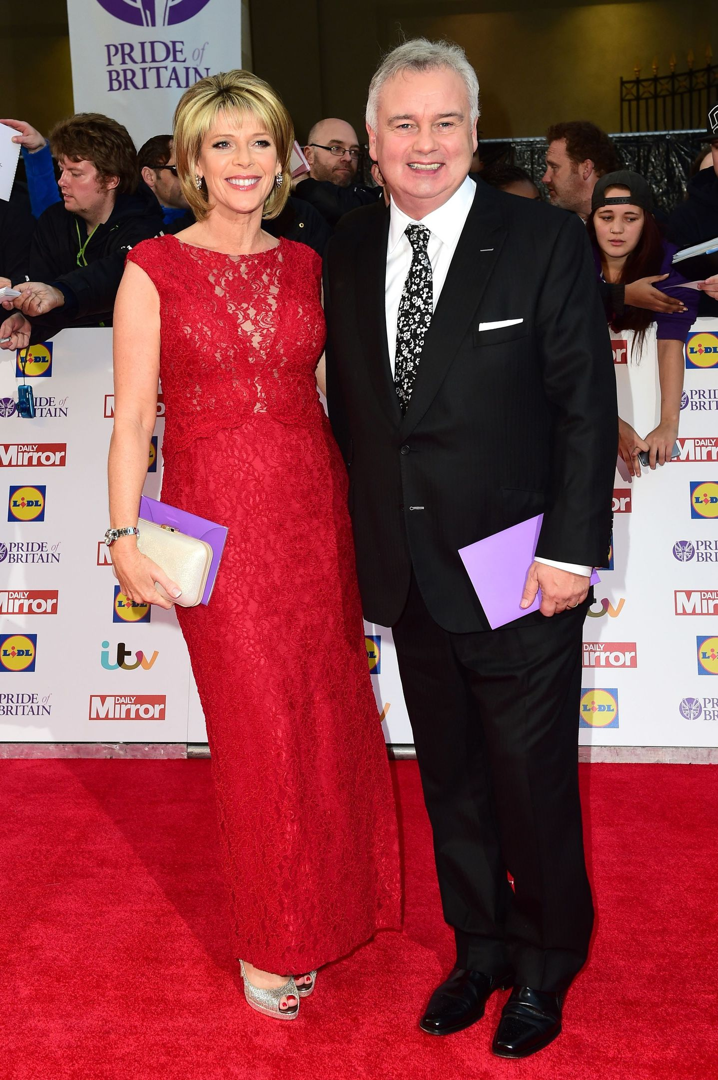 28/09/15 PA File Photo of Eamonn Holmes and Ruth Langsford (left) arriving for The Pride of Britain Awards 2015, at Grosvenor House, Park Lane, London. See PA Feature WELLBEING Langsford. Picture credit should read: Ian West/PA Photos. WARNING: This picture must only be used to accompany PA Feature WELLBEING Langsford