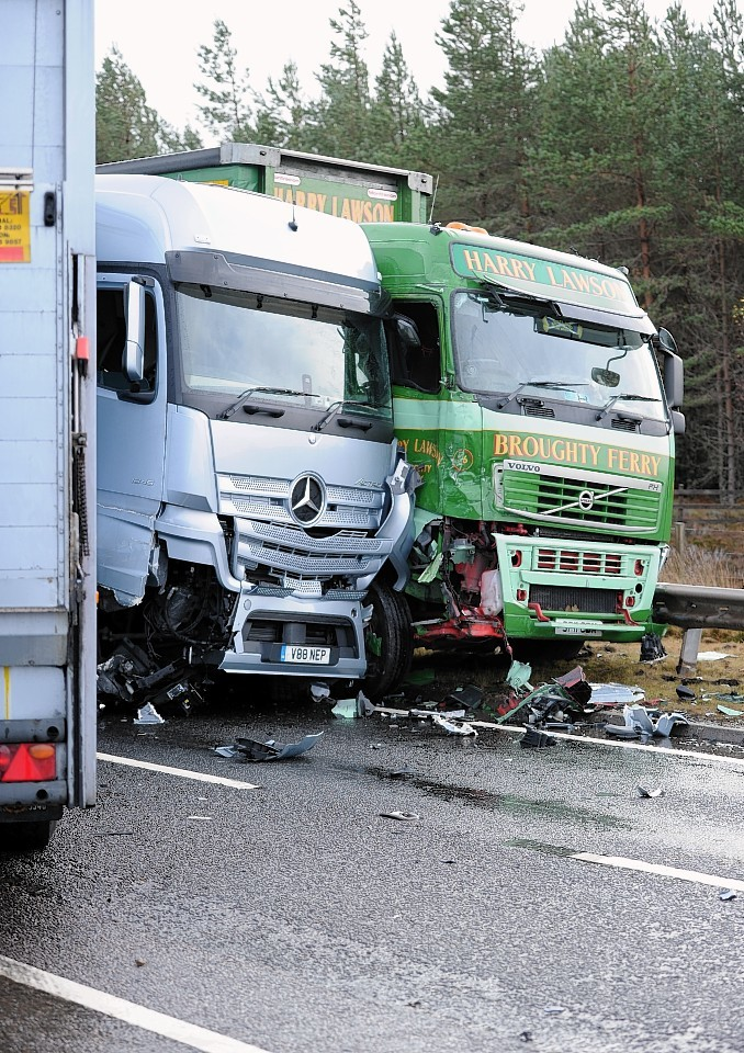 The crash on the A9 at Carrbridge