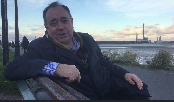 Alex Salmond was speaking from Dublin