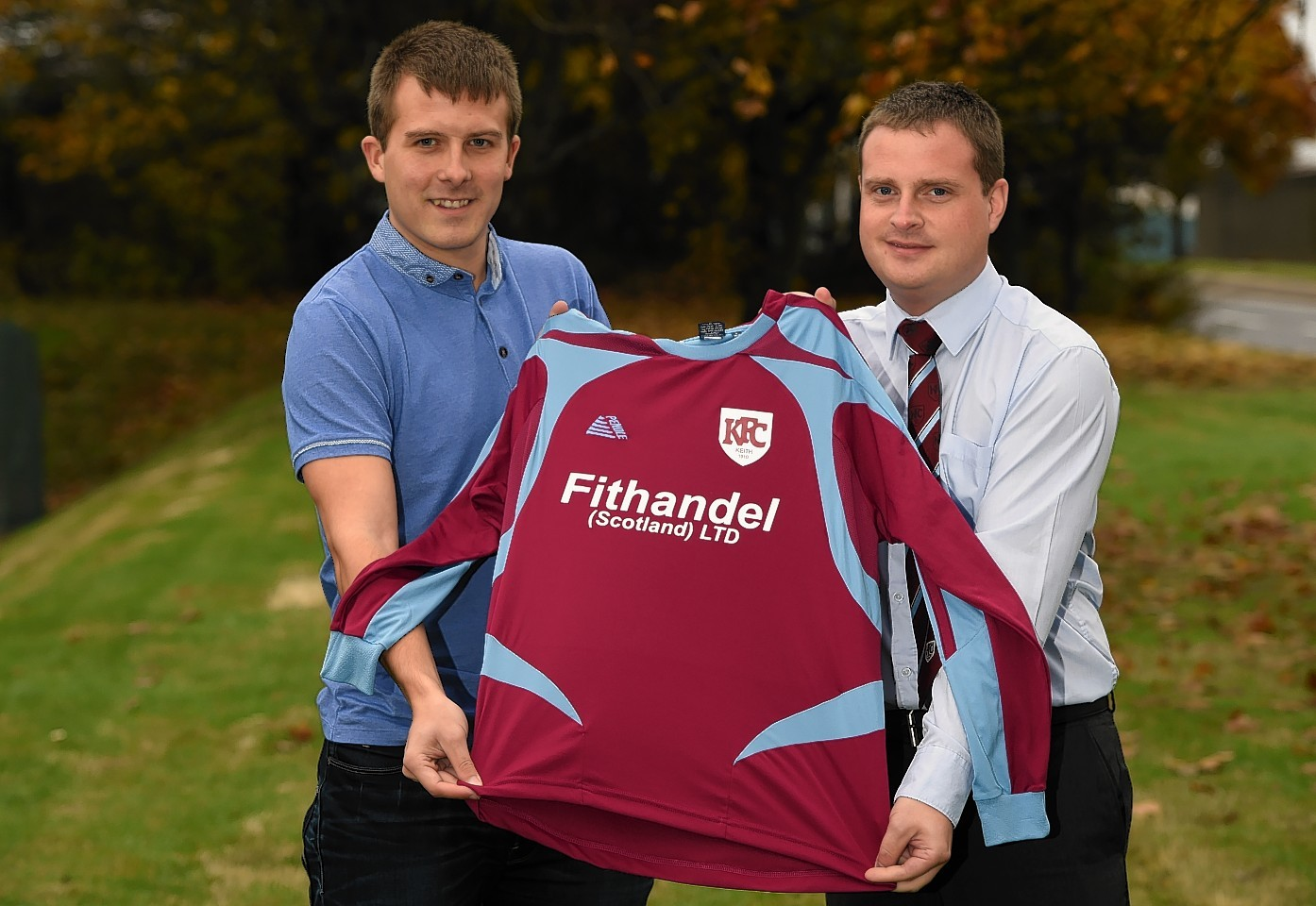 Keith FC chief executive Andy Troup with new manager Allan Hale.