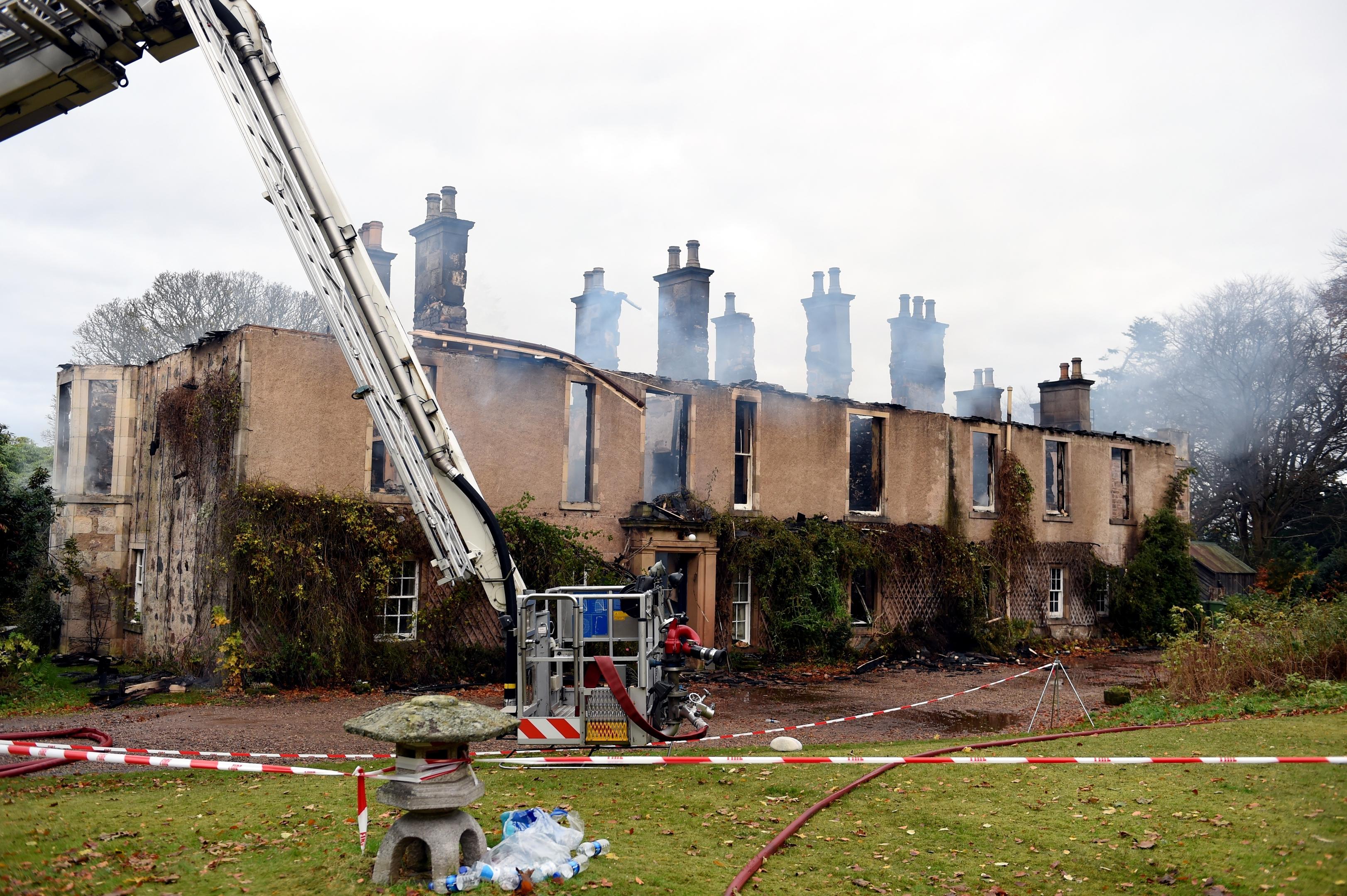 Blackhills House, near Elgin, following a major fire. Pictures by Gordon Lennox