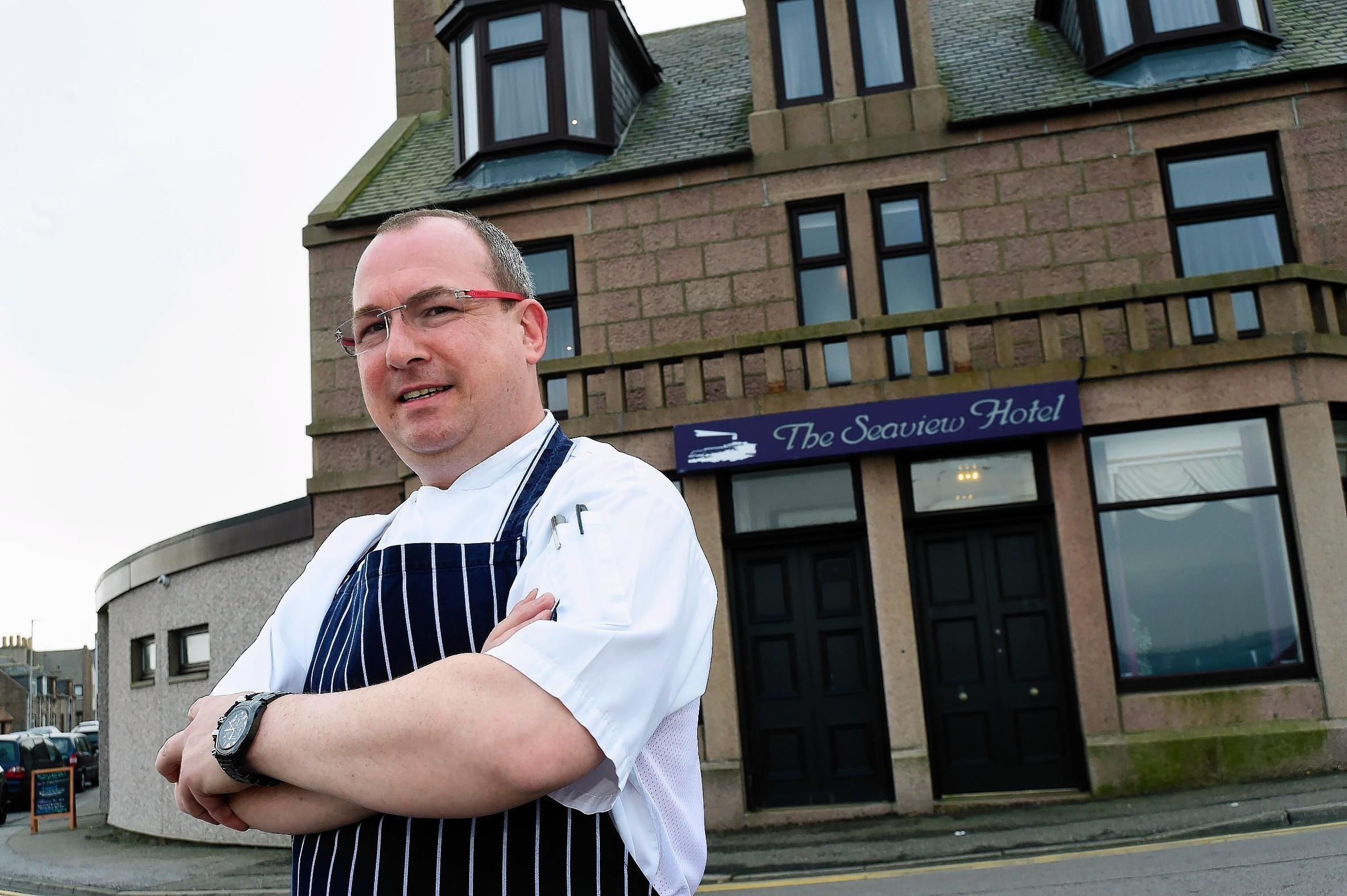 Head chef at the Seaview Hotel, Craig Molloy
