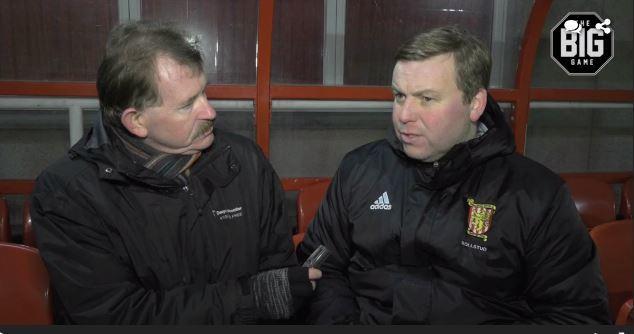 Dave Edwards speaks to Formartine boss Kris Hunter