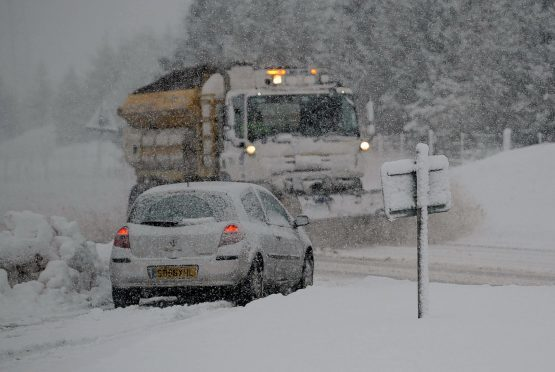 Motorists have been warned to plan their journeys as snow is expected on higher ground on Thursday