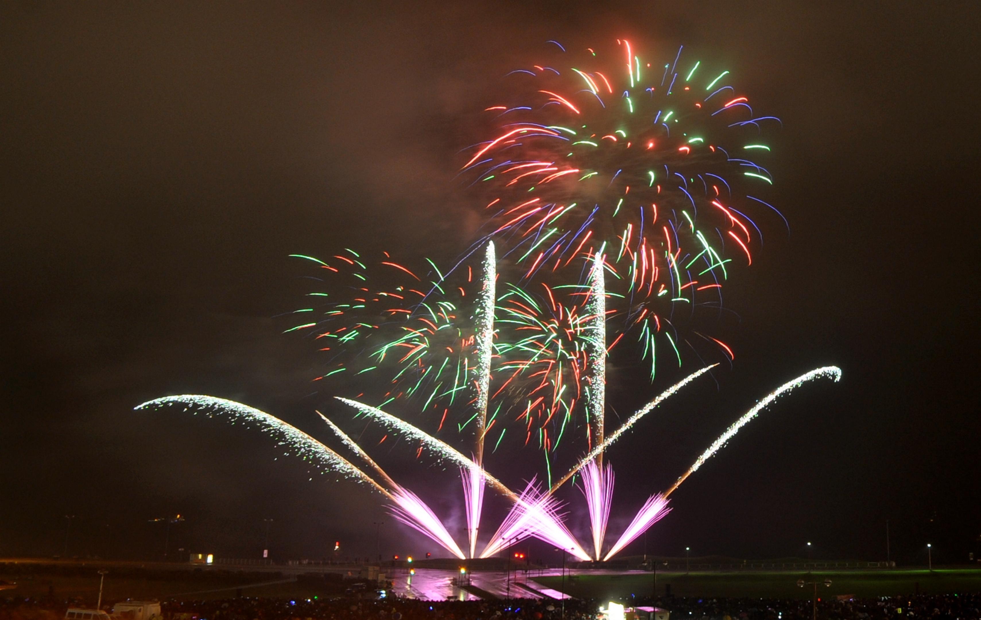 Fireworks at Aberdeen beach