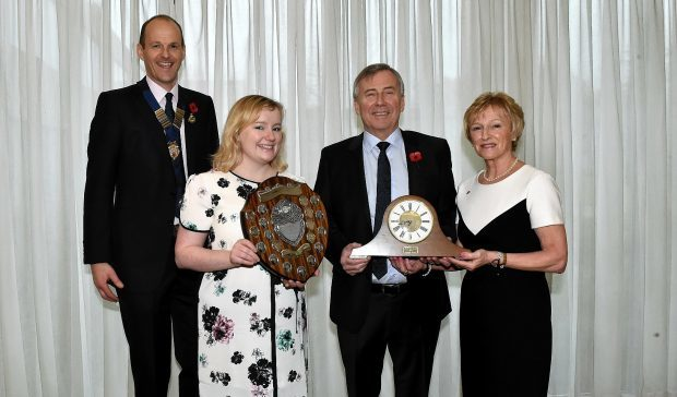 RNAS president Dave Green, P&J farming editor Gemma Mackenzie, Graham Baxter and wife Kathleen