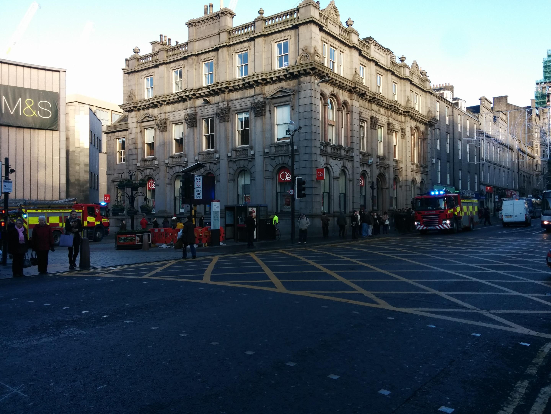 Dramatic scenes in the city centre