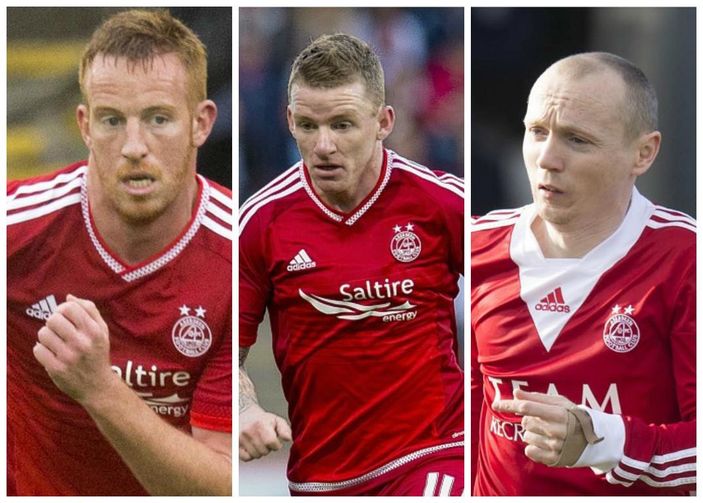 Adam Rooney, Jonny Hayes and Willo Flood