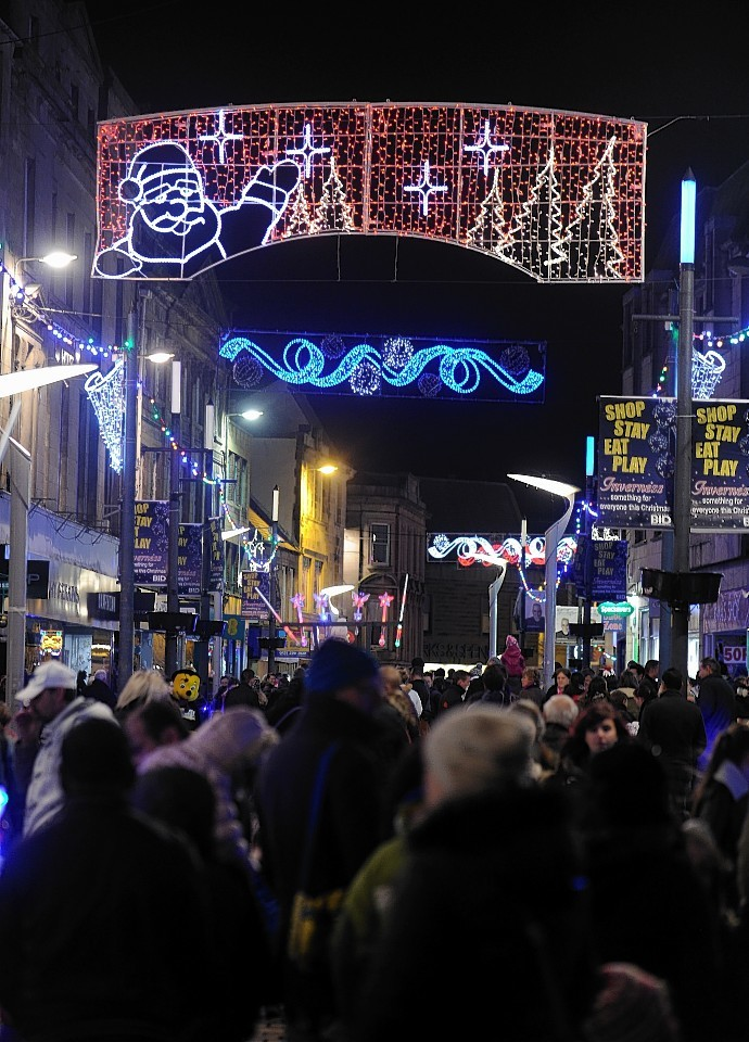 The Inverness Christmas Light switch-on in 2014