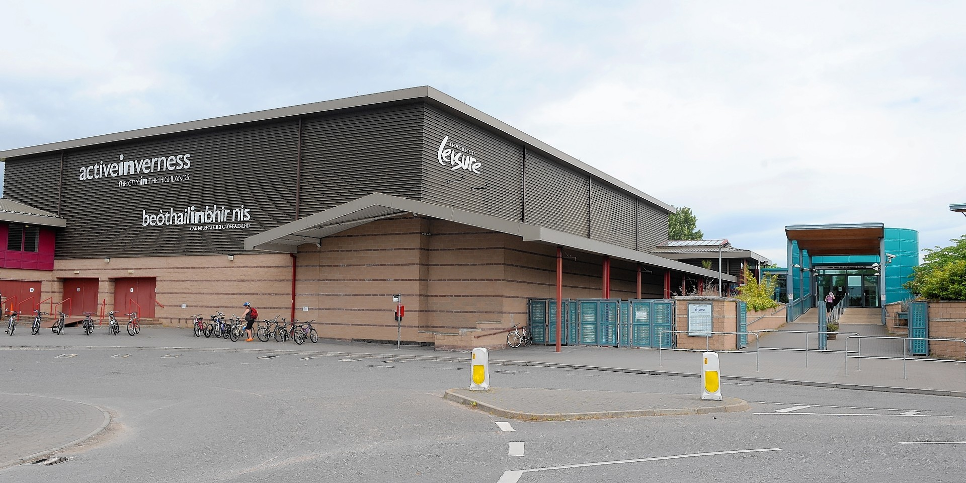 Keeping the scaffolding up at Inverness Leisure Centre is costing several thousand pounds