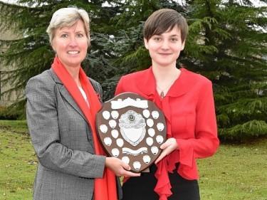 Jane Mitchell presents the award to Hazel Kennedy.
