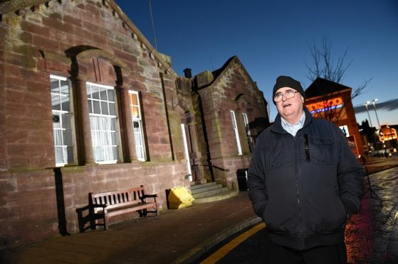 Picture of John Smith, member of the community council. Picture by Kenny Elrick