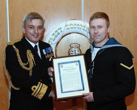AB Murray awarded a Fleet Commander Commendation.