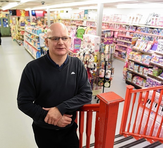 Eric Beattie, manager of Junner's Toy Shop in Elgin