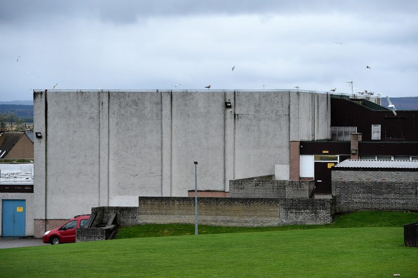 Lossiemouth swimming pool, which is split between locals and pupils at the Coulardbank Road school