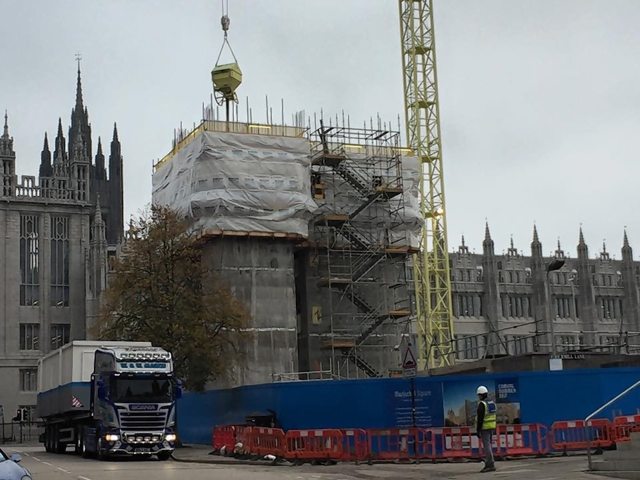 The Marischal Square development has brought transport difficulties