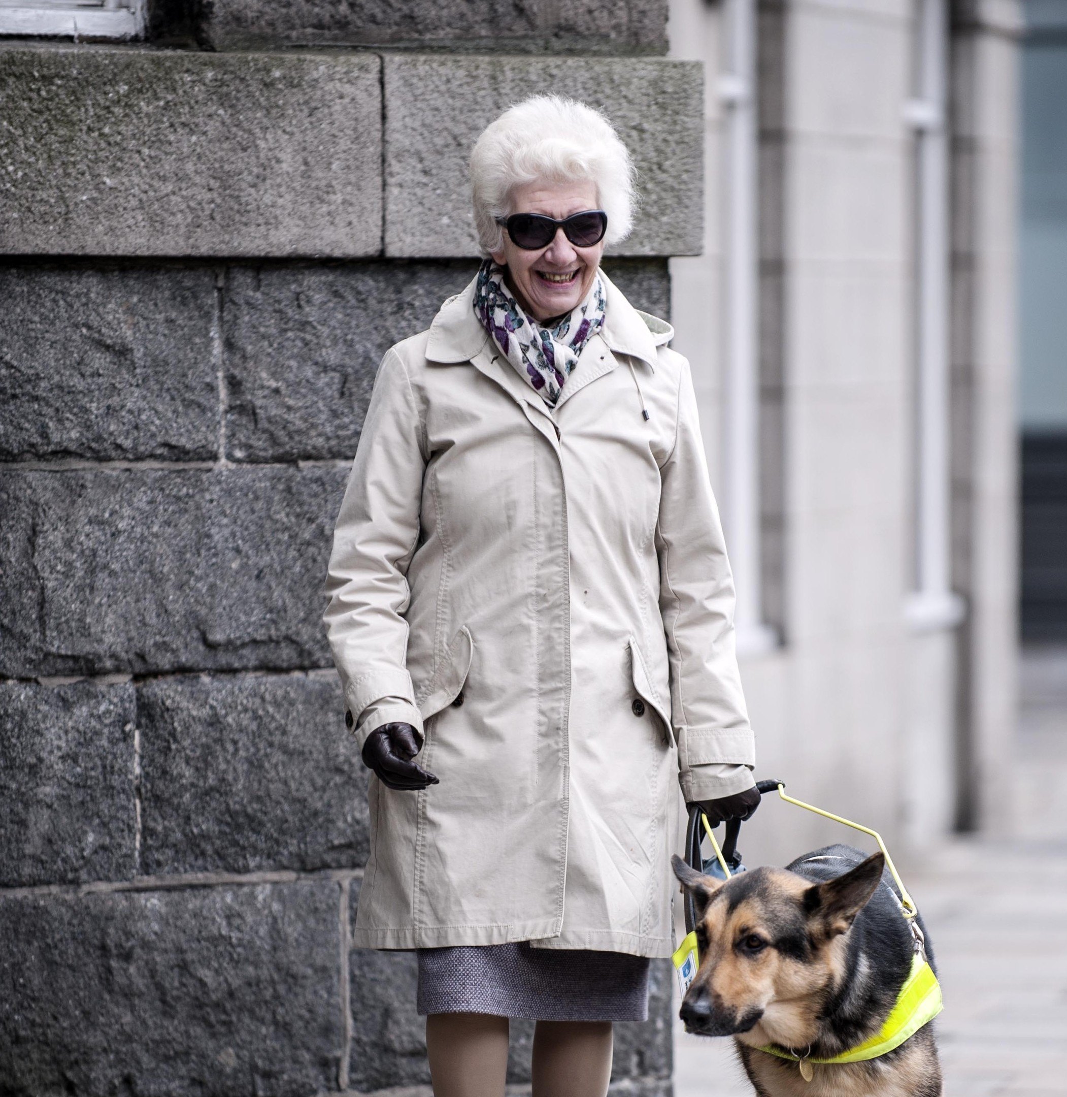 Picture by Christian Cooksey/CookseyPix.com on behalf of Guide Dogs.  Guide Dogs Annual Awards. Mary Rasmussen from Aberdeen, Scotland and her Guide Dog Nelson.