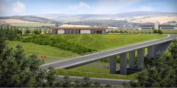 Artist impression of the planned supermarket at Mill O' Forest
