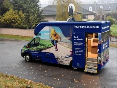 The Royal Bank Of Scotland mobile bank. Picture by Gordon Lennox