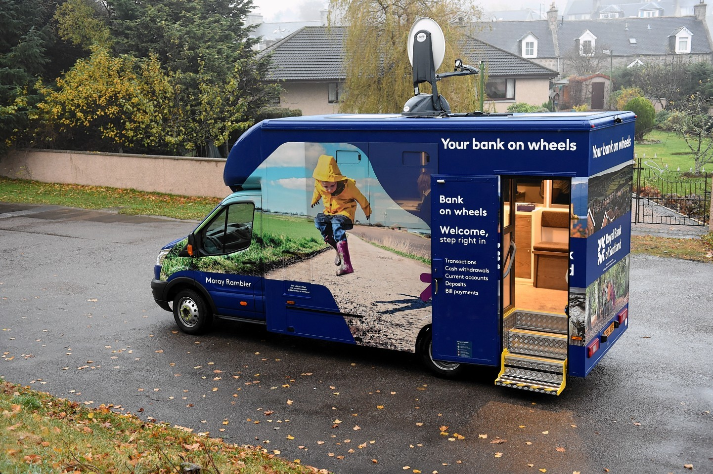 The Royal Bank Of Scotland mobile bank. Picture by Gordon Lennox