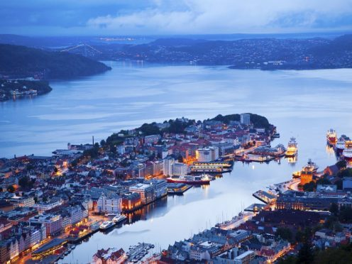 Norway - Bergen at night