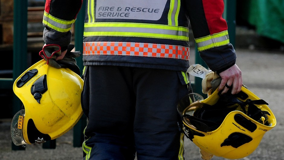 Firefighters were called to the blaze in Ellon