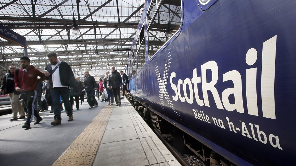 A person has been hit by a train between Perth and Stirling.