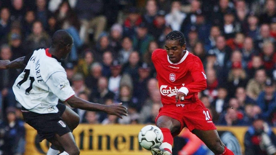 Florent Sinama Pongolle, pictured playing for Liverpool, has joined Dundee United