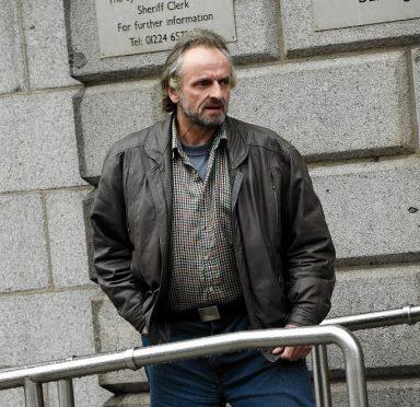 Raymond Panton leaving Aberdeen High Court