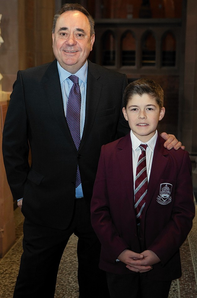 Former First Minister Alex Salmond MP meets with Ryan McGuigan