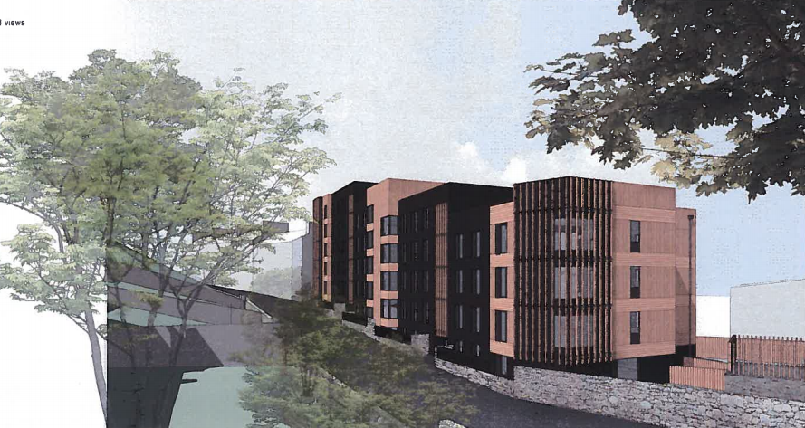 Plans for the proposed student flats in Aberdeen